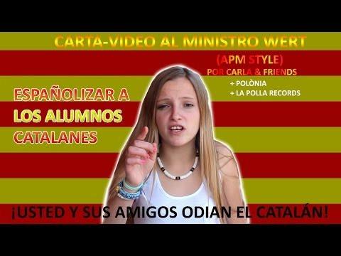 Carta d'una alumna catalana al ministre Wert