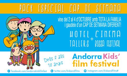 Guanyador d'un 'pack cap de setmana' a l'Andorra Kids' Film Festival