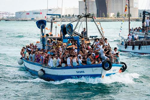 Festivitat de la Mare de Déu del Carme a la Barceloneta