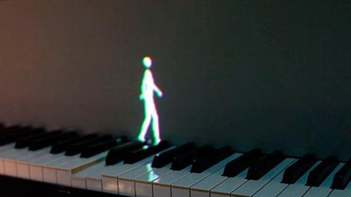 Moviment musical al piano