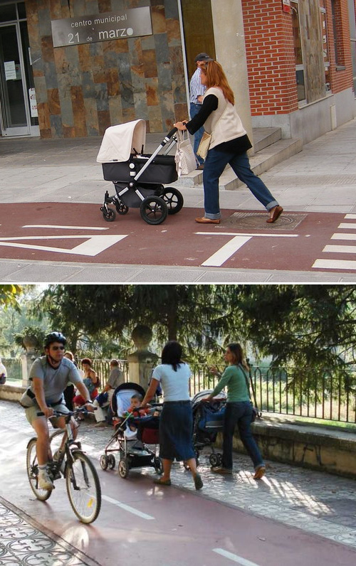 Barcelona, obligatori portar els carrets de nens pel Carril Bici