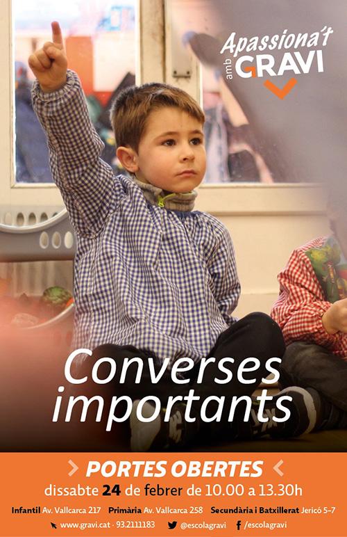 Apassiona't amb l'Escola Gravi: jornada de portes obertes