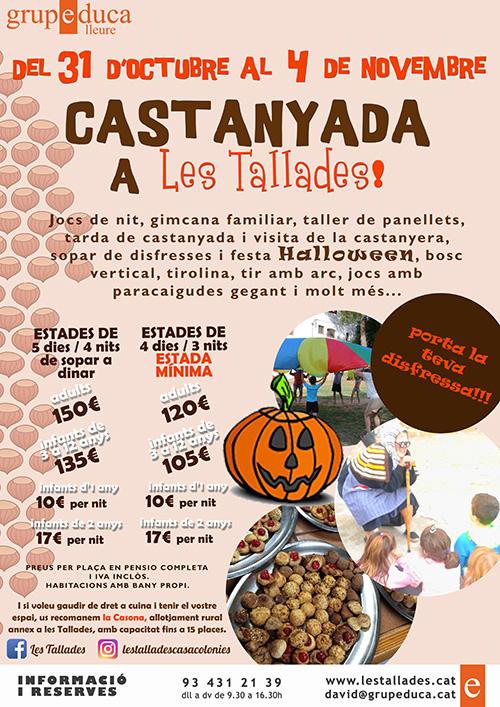 Castanyada i Halloween en família a Les Tallades