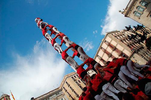 Els Castellers de Barcelona celebren el 50è aniversari amb una gran diada