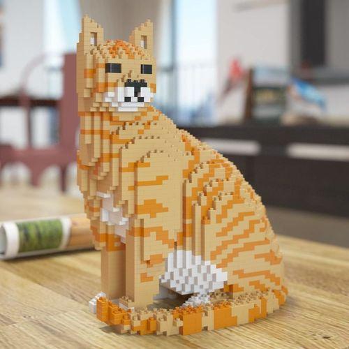 Escultures de gats fetes amb Lego!