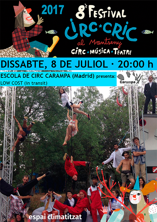 Punt i final al Festival Circ Cric amb l'Escola de Circ Carampa