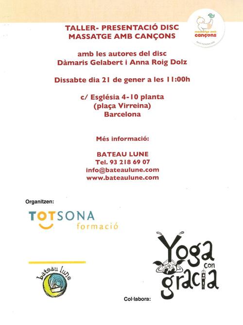 Presentació de 'Massatge amb cançons' a Barcelona
