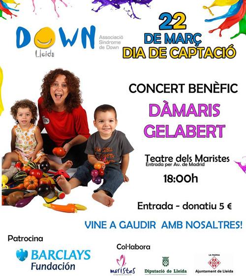 Concert benèfic de Dàmaris Gelabert a Lleida