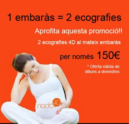 Promoció '1 embaràs = 2 ecografies'