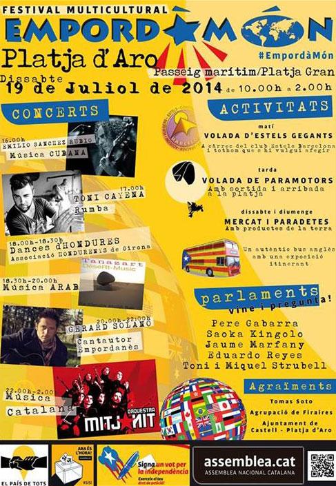 Festival Multicultural Empordà Món a Platja d'Aro
