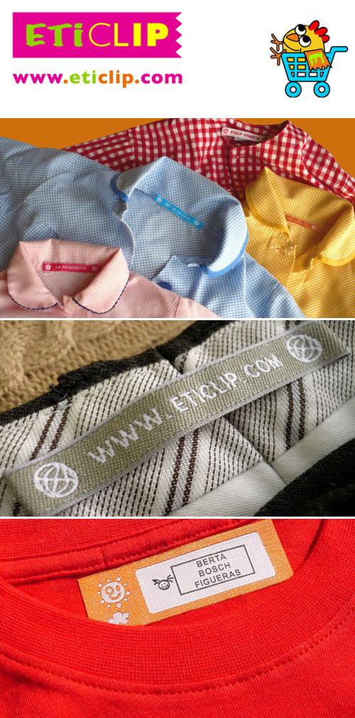 Personalització de les etiquetes per a la roba
