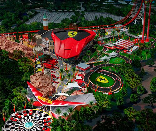 Així serà el nou parc Ferrari Land a Port Aventura World