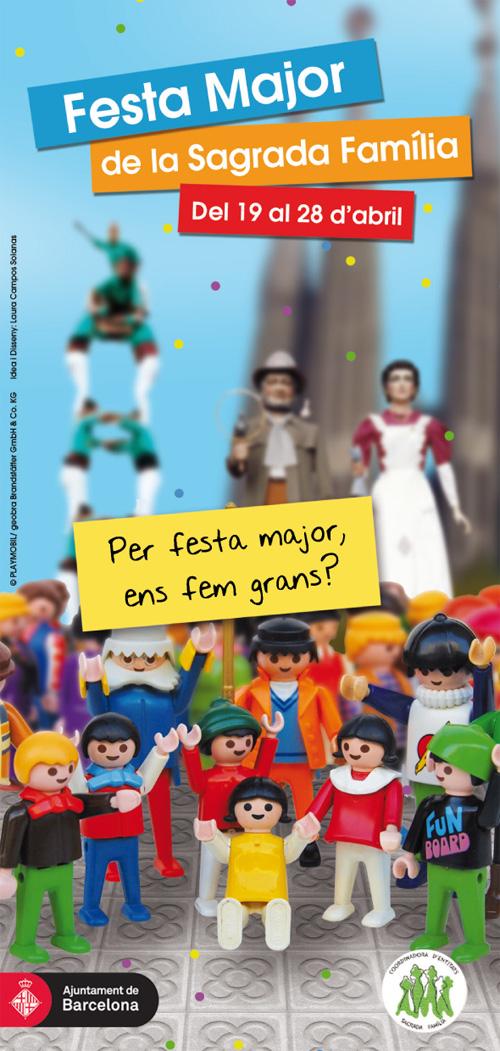 Festa Major al barri de la Sagrada Família de Barcelona