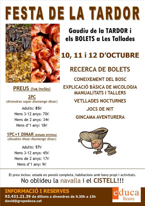 Festa de la tardor i els bolets a Les Tallades