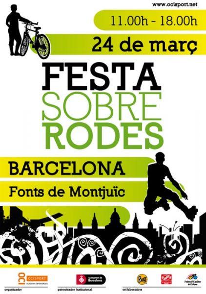 Festa sobre rodes a Barcelona