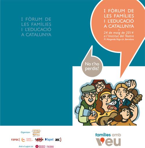 I Fòrum de les Famílies i l'Educació a Catalunya