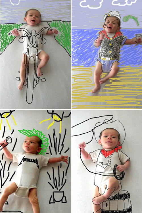 Creant històries amb les fotos del petit