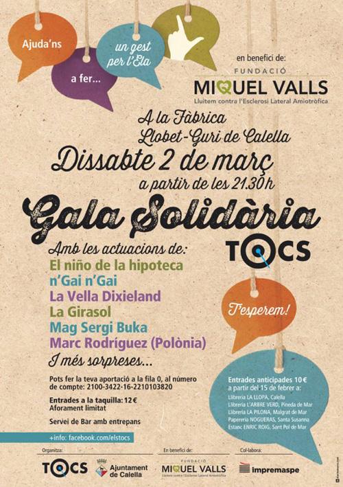 Gala solidària per la lluita contra l'ELA, a Calella