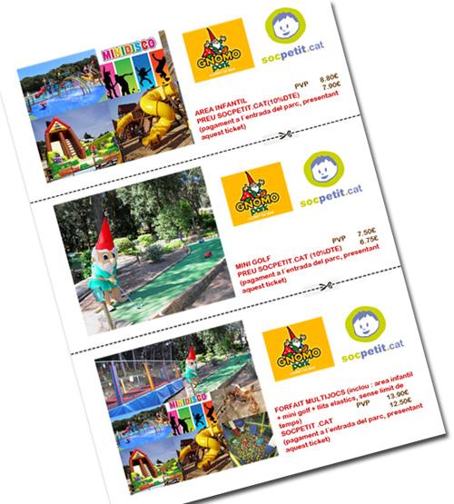 Tiquets de descompte per Gnomo Park