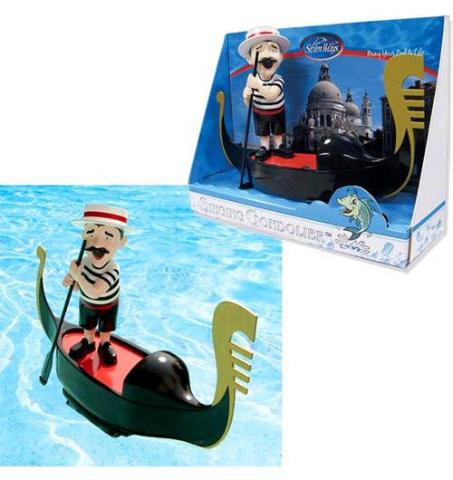 Un gondoler a la piscina