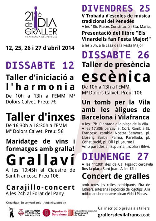 XXI Dia del graller a Vilafranca del Penedès