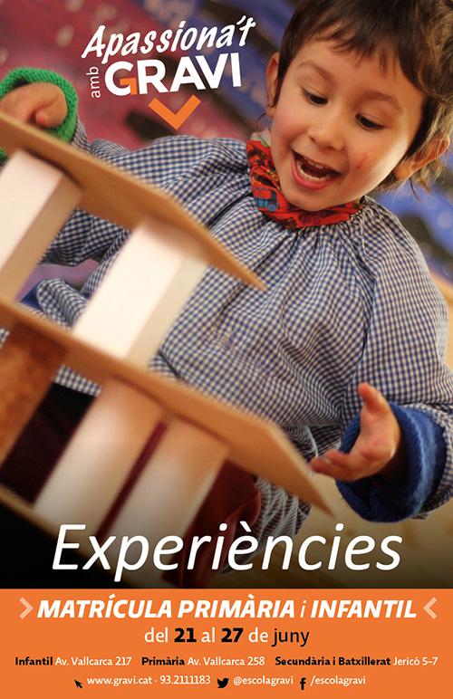 Inscripcions d'Infantil, Primària i ESO a l'Escola cooperativa Gravi