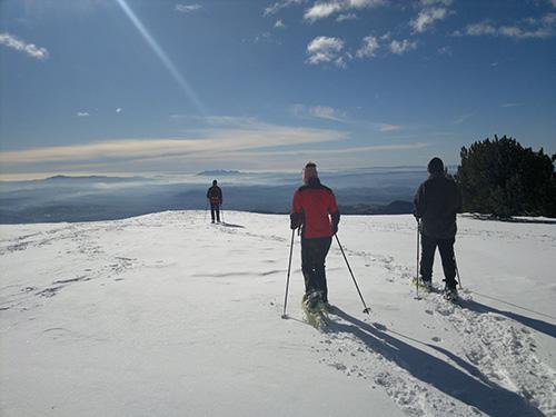 Sortida amb raquetes de neu al Berguedà, amb Indòmit