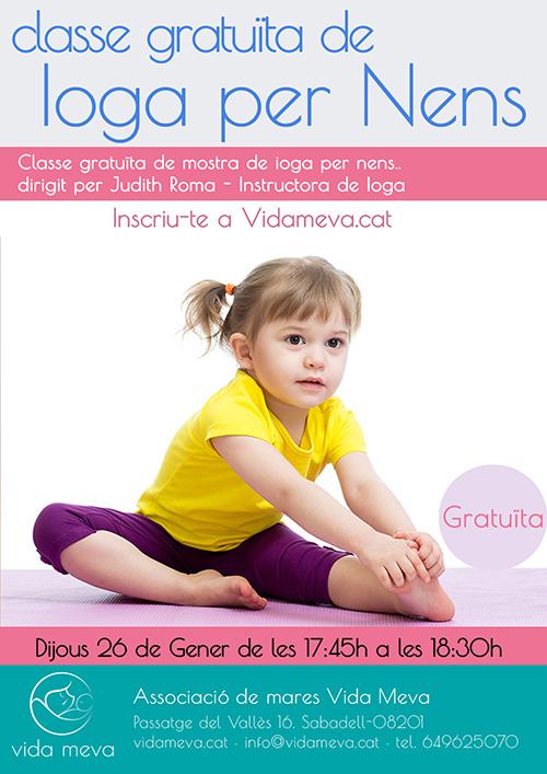 Classe gratuïta de ioga per nens
