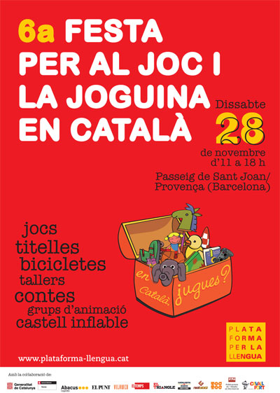 Festa per al joc i joguina en català.