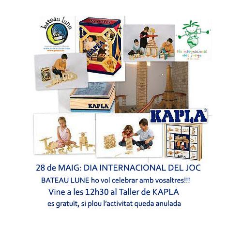 Taller de Kapla en el Dia Internacional del Joc