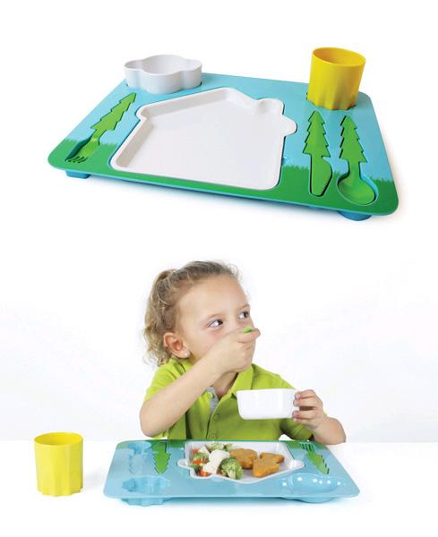El paisatge ideal pel dinar i el sopar dels nens