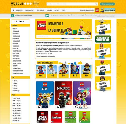 Abacus obre una exclusiva botiga online de LEGO