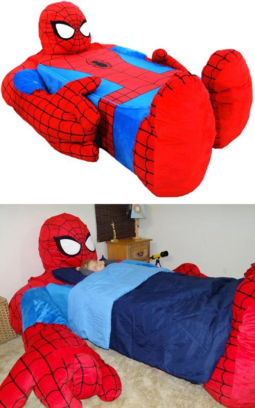 Hem trobat un llit de l'Spiderman!