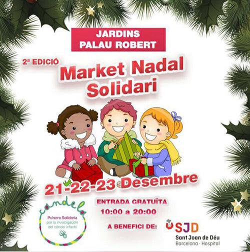Mercat de Nadal Solidari al Palau Robert, Barcelona