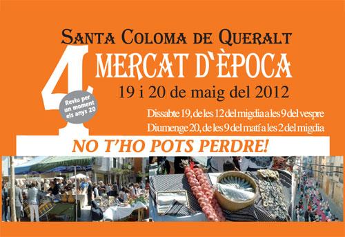 4rt. Mercat d'àˆpoca a Santa Coloma de Queralt