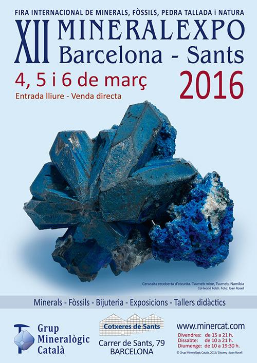 Taller d'iniciació als Minerals a MineralExpo, Barcelona