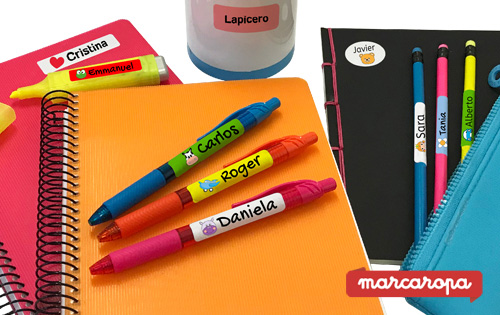 Guanyadors de 4 packs d'etiquetes multicolor, de Marcaropa