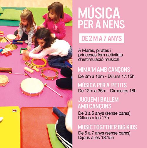 Classes extraescolars de música a Mares, Pirates i Princeses