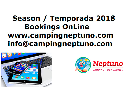 Promocions al Càmping Neptuno per les reserves del 2018