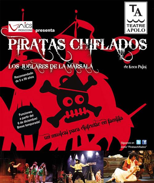 Els guanyadors de l'obra 'Piratas chiflados'