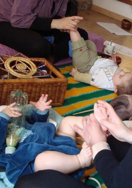 Guanyadora d'un curs de reflexologia podal infantil