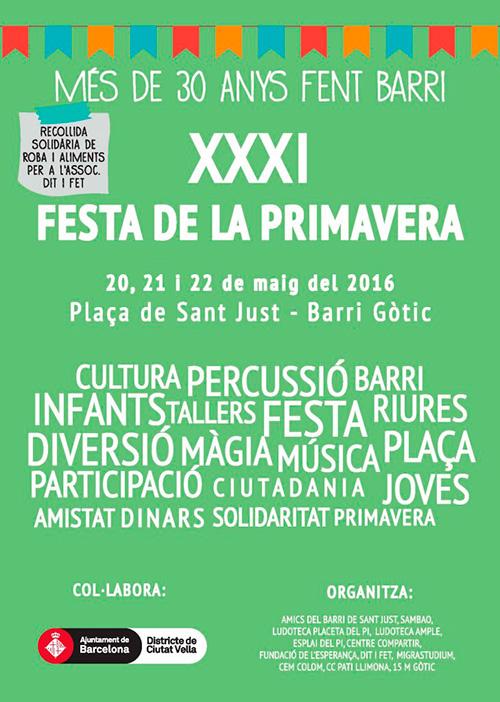 Festa de la Primavera al Barrri de Sant Just, Barcelona