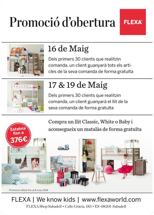Obertura d'una nova botiga Flexa a Sabadell