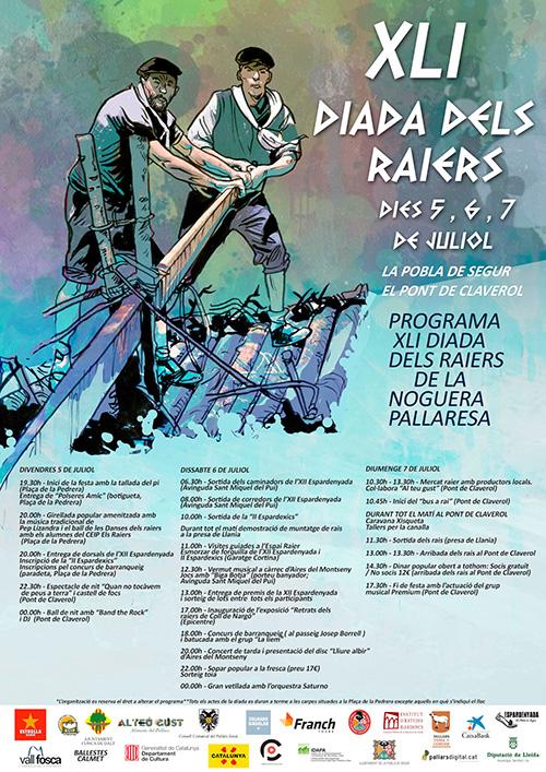XLI Diada dels Raiers de la Noguera Pallaresa a la Pobla de Segur, el Pallars Jussà