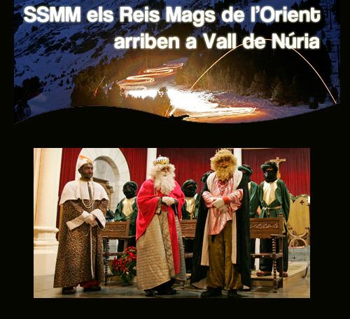 Els Reis Mags de l'Orient arriben a Vall de Núria