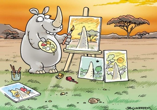 Saps com pinta un rinoceront?