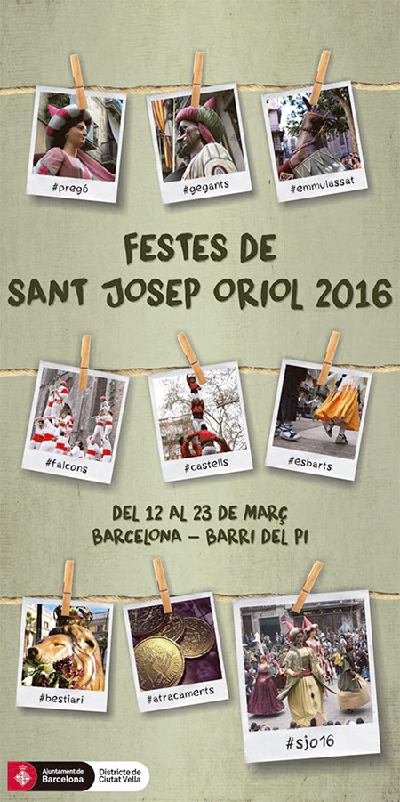 Festes de Sant Josep Oriol al Barri del Pi de Barcelona