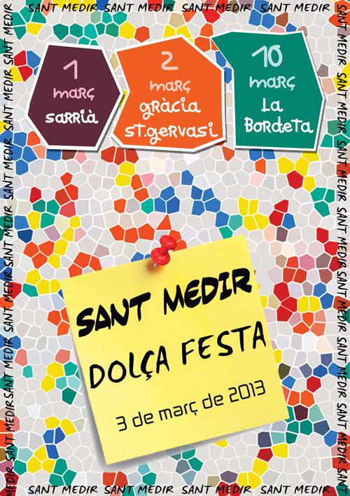 Sant Medir 2013 a Sarrià, Gràcia, Sant Gervasi i la Bordeta