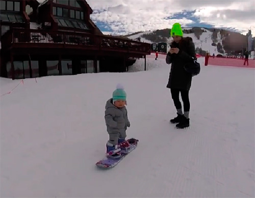 Snowboarder de 14 mesos