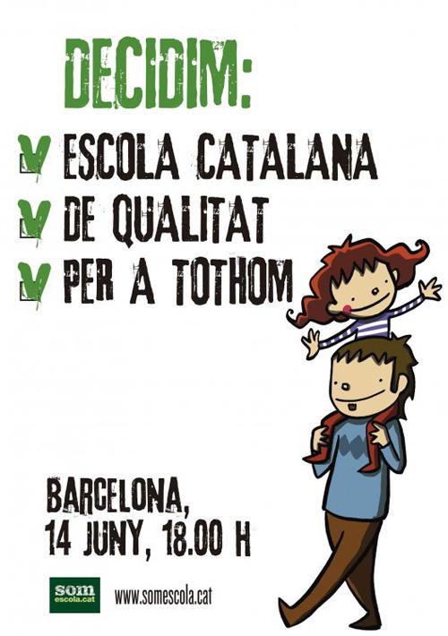 Mobilització per l'escola en català
